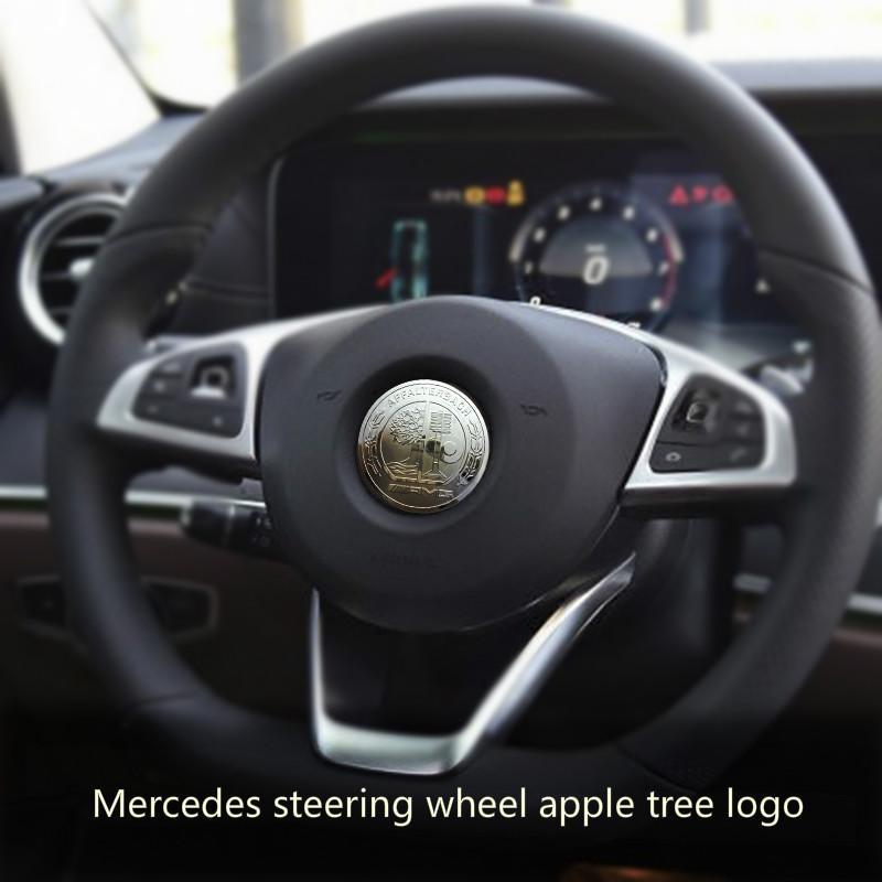 Mercedes-Be z volante Logo GLC260 decorativo grau padrão C C200L nova Classe E E300L interior produtos especiais AMG