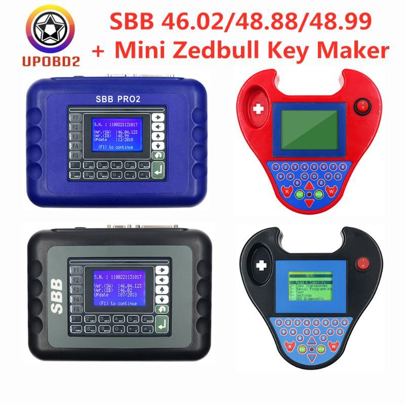 SBB V48.99 Pro2 auto del programador V48.88 V46.02 clave del transpondedor Sin Fichas mini Zedbull coche Marca SBB Pro 2 48.88 48.99