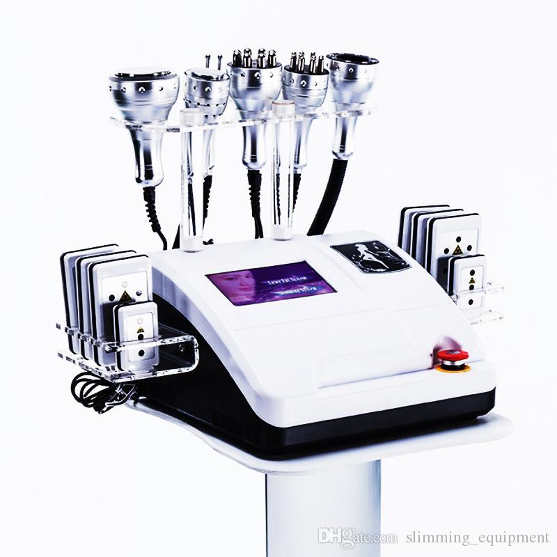 8in1 РФ Радиооборудование 8 Колодки частоты Вакуумные липо Потеря Лазерная кавитация профилировщика тела Вес машины для похудения SPA