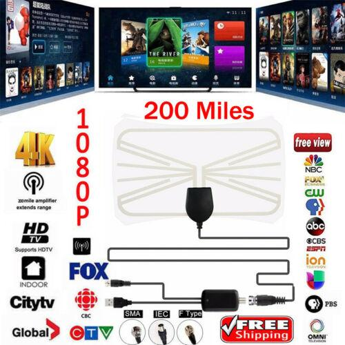 DIGITAL ANTENNA TV HDTV 100 MILES LONG RANGE HQ HDTV INDOOR ANTENA Freeview HD