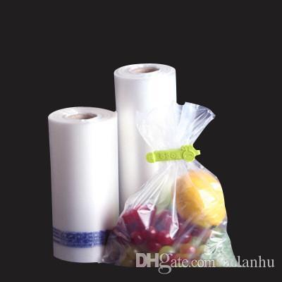 Фасоль пищевая сумка для хранения 100шт прозрачные пластиковые Вакуумные мешки тиснение Термосвариваемый с одной стороны тиснение деликатесов защита свежести пакет