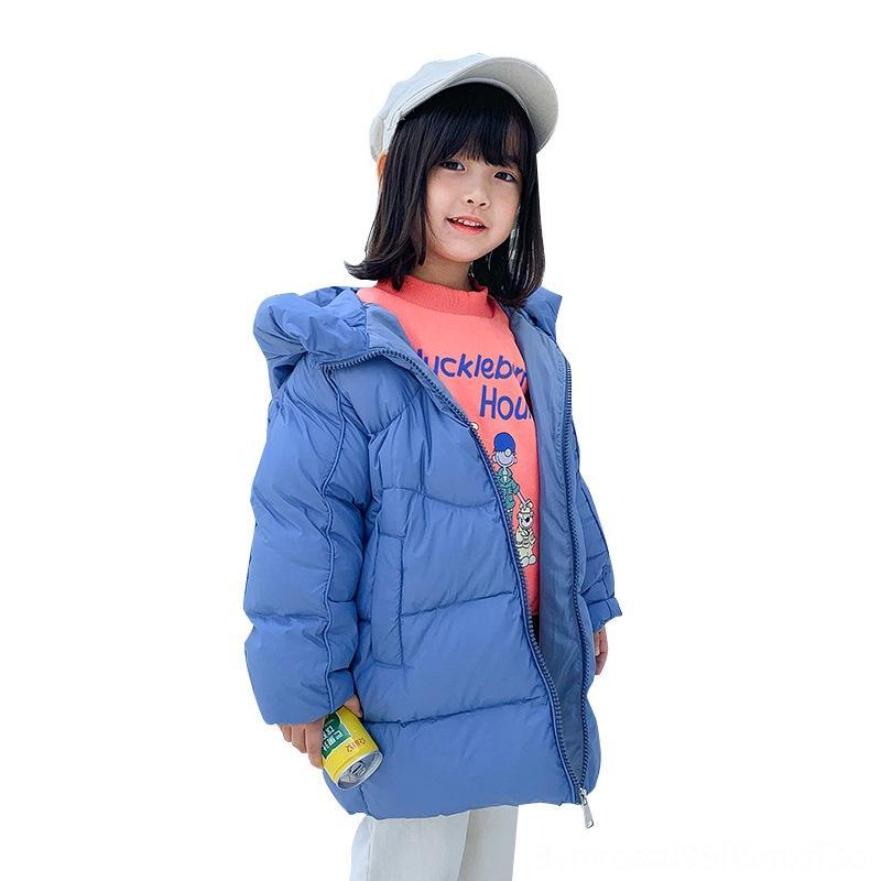 Daunenjacke Outwear Baby-Kind-Kleidung Winter Kinder Jungen und Mädchen Kleidung New verdickte Medium und Large Kinder Weiße Ente Warm