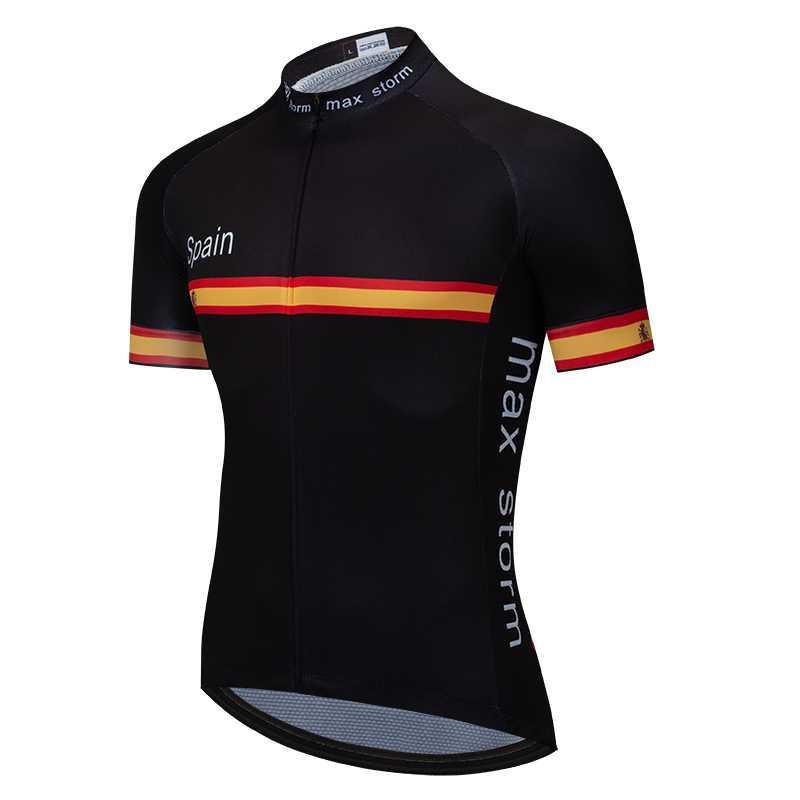 사이클링 저지 2020 스페인 검정 파랑 새 팀 사용자 정의 도로 산 레이싱 최고 자전거 저지 최대 스톰