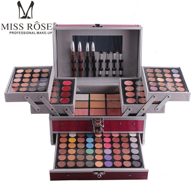 Miss Rose maquillaje del maquillaje del kit completo profesional sistema de la caja cosmética para las mujeres de color 190 Señora compone sistemas