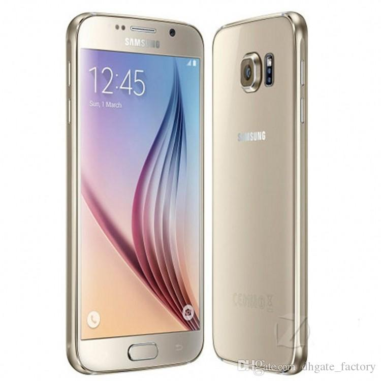 Original 5.1 pulgadas Samsung Galaxy S6 G925F 4G GSM Octa Core 3GB / 32GB desbloqueado teléfono celular restaurado Envío Gratis