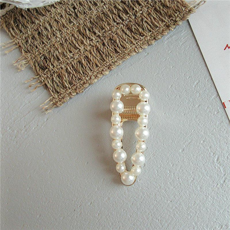 Clipes Acessórios Prata E Cabelo Pérola Barrette Hairclip Grampos Pearl White Cabelo dama Ganascia prata e pLjpz