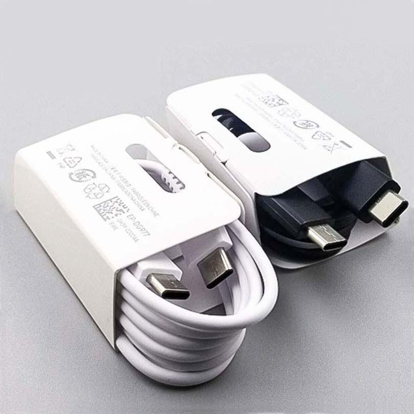 OEM 품질 지원 PD 빠른 충전기 USB Type-C to C 형 C 케이블 C to C ~ C 빠른 충전 코드 1m 삼성 갤럭시 S20 S10 노트 10 플러스