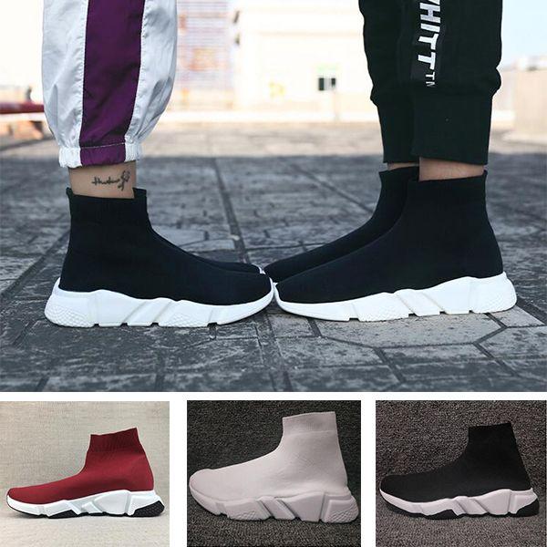 Balenciaga Sock shoes Luxury Brand  عادية للمصمم أحذية الرجال النساء Oero المرأة أحذية حذاء رياضة 36-47