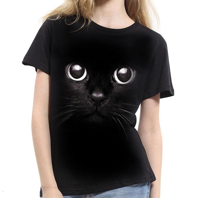 Femmes Blouses femmes Vêtements New Cool Chemisier pour les femmes 3D Cat Imprimer manches courtes Tops été T-shirts unisexe Chemisier Plus Size 2TG