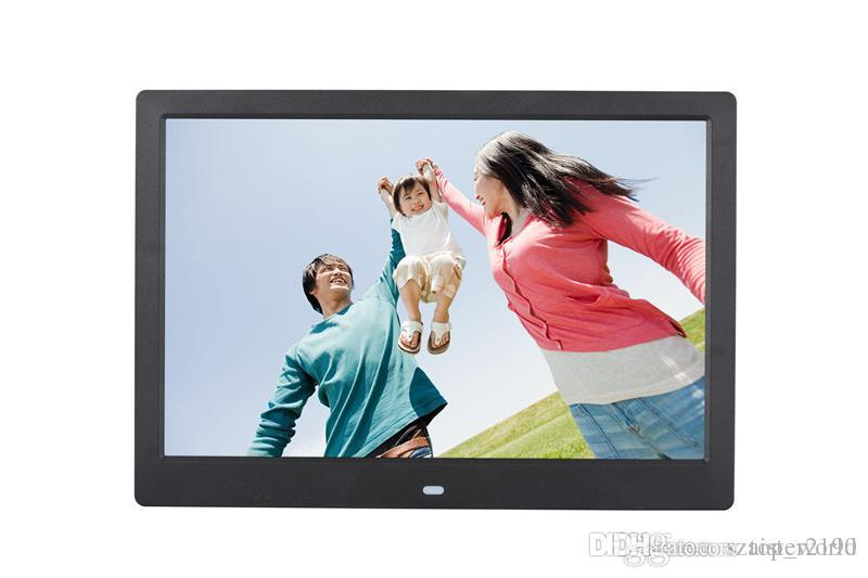 12-дюймовый TFT-экран со светодиодной подсветкой HD 1024 * 600 Цифровая фоторамка Электронная фотография альбома Музыка MP3 MP4 Porta Retrato Digital