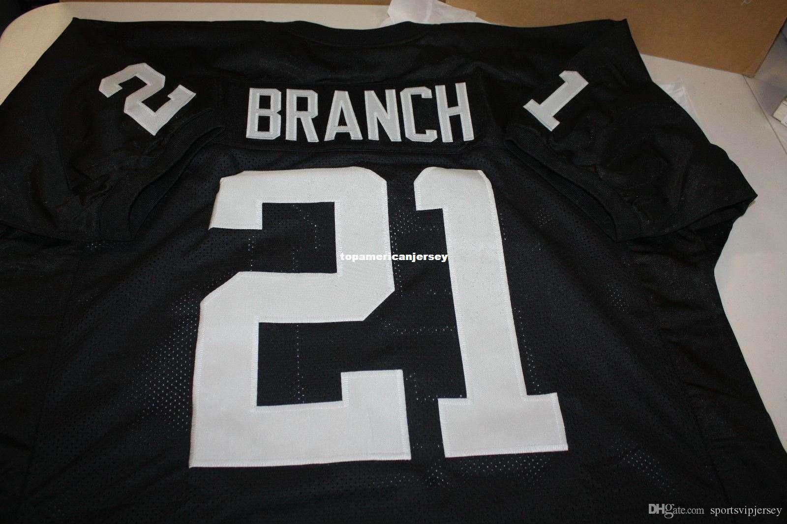 Pas cher Retro CLIFF BRANCH # 21 CUSTOM Top S-5XL, 6XL MITCHELL NESS Jersey Stitching Football Maillots hommes Course à pied