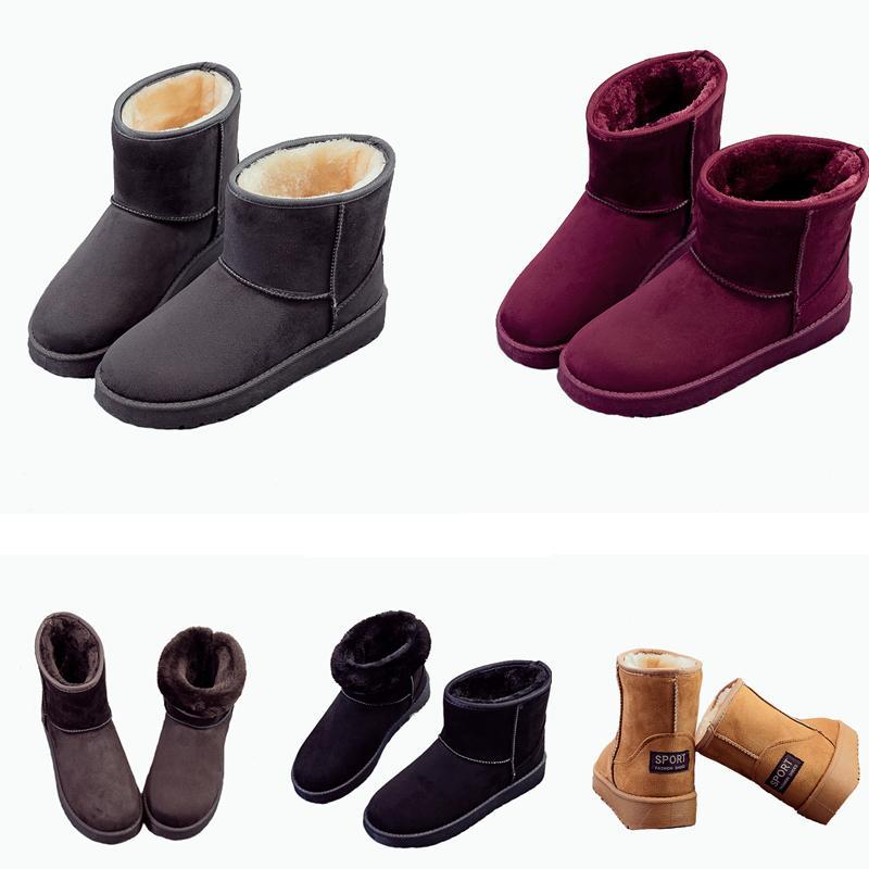 2019 New WGG für Frauen Australien Klassische Kneel Winter Schnee Stiefel Stiefeletten Schwarz Grau Kastanie Marineblau Frauen-Mädchen-Boots-Schuh-Größe 35-41