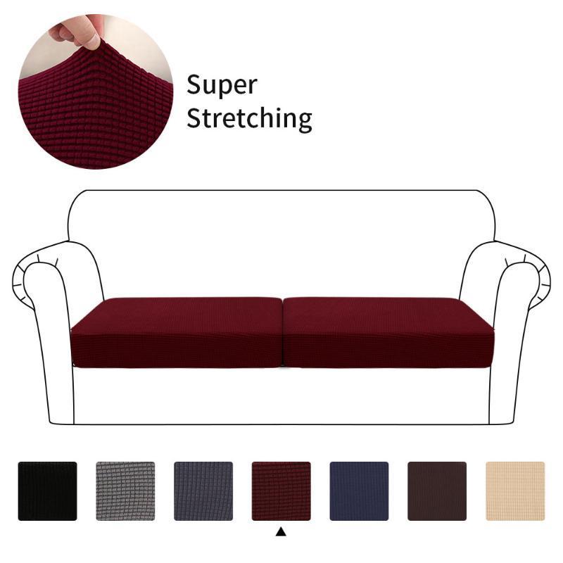 New 1/2/3 Seater Wasserdichte Sofa Sitzkissenbezug Couch Stretchy Slipcovers Schutz Elastic Slipcover 2020 Best Selling