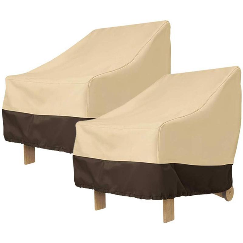 Paquet de 2 Patio Chaise Adirondack Couverture 31X33X36 pouces Heavy Duty Patio extérieur Housse de chaise 420D, extérieur imperméable pelouse mobi