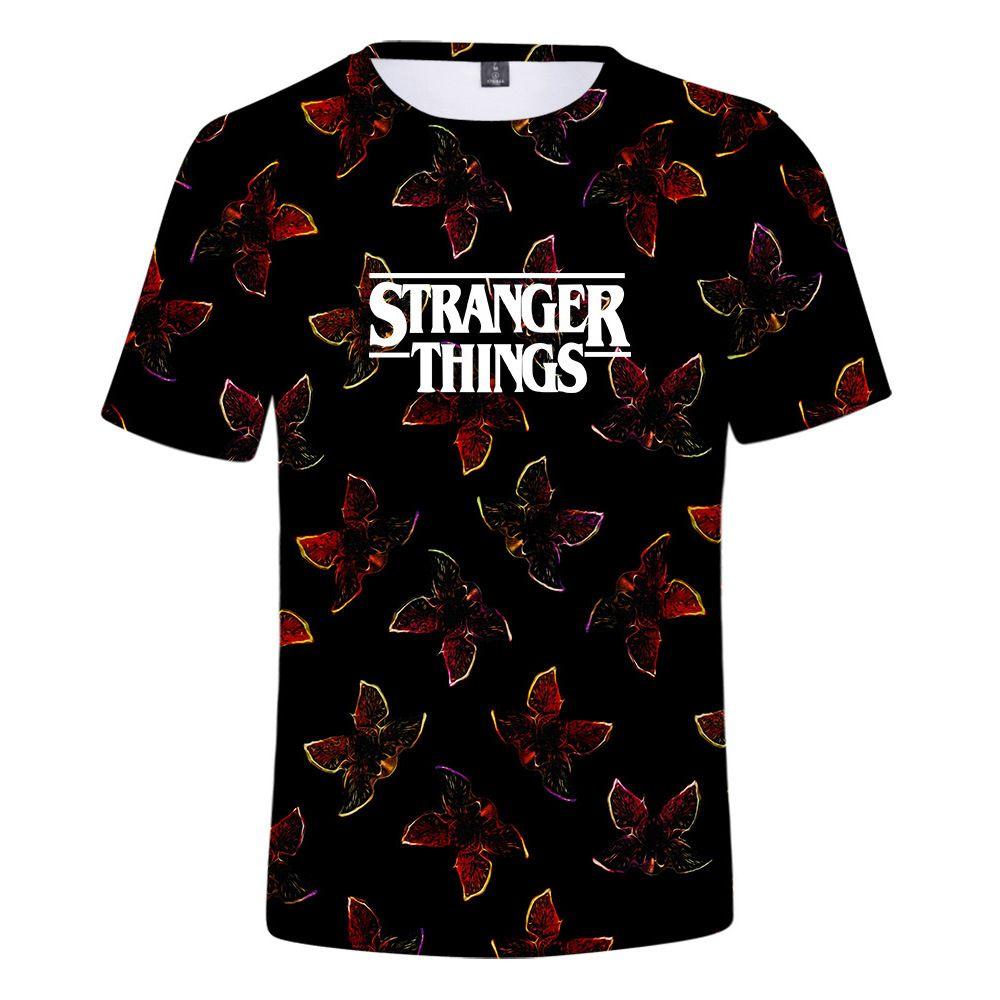 Herren T-Shirt Mode fremde Dinge 3D gedruckt Hipster lustige T-Shirt Sommer lässig Straße Hip-Hop T-Shirt männlich weiblich Tops