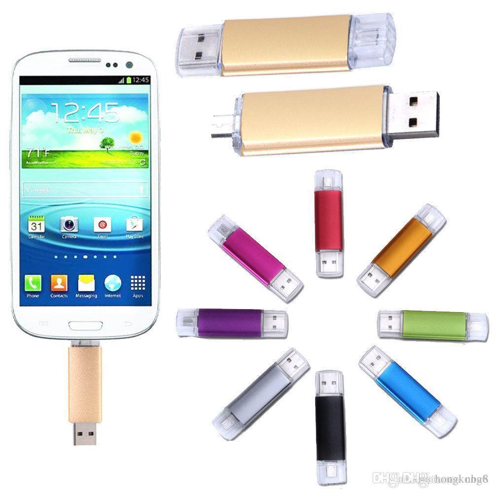 La capacité réelle de 128 Go OTG Dual Micro USB Flash Pen pouce lecteur Memory Stick pour téléphone PC