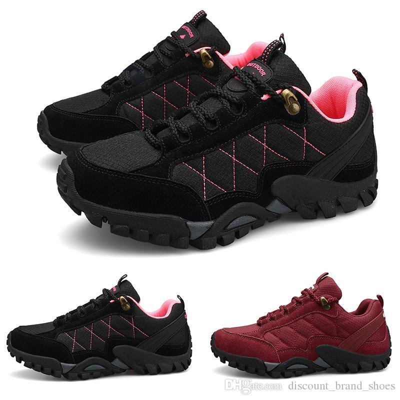 Nouvelle arrivée du vin rouge noir plus velours TYPE8 femmes dentelle jeune dame GRIL respirante Chaussures de course formateurs bas Designer coupé sport Sneaker