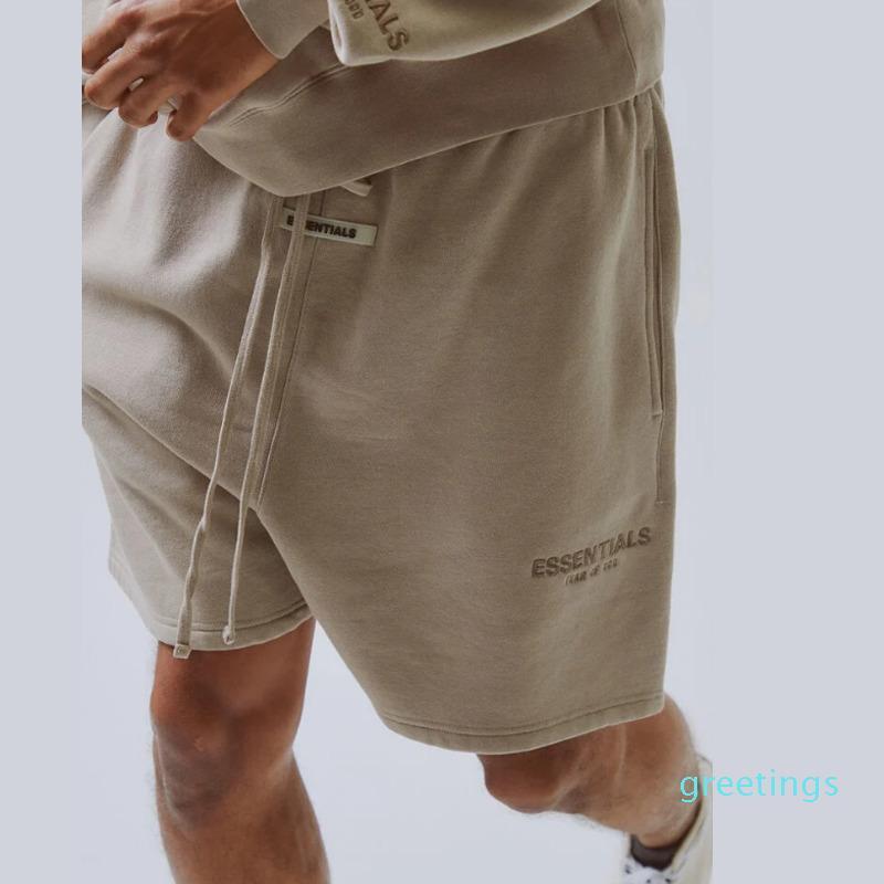 20 Ss solto de casual deus reflexivo shorts esporte rua cintura medo ao ar livre calça curta vintage nevoeiro elástico fmkpw