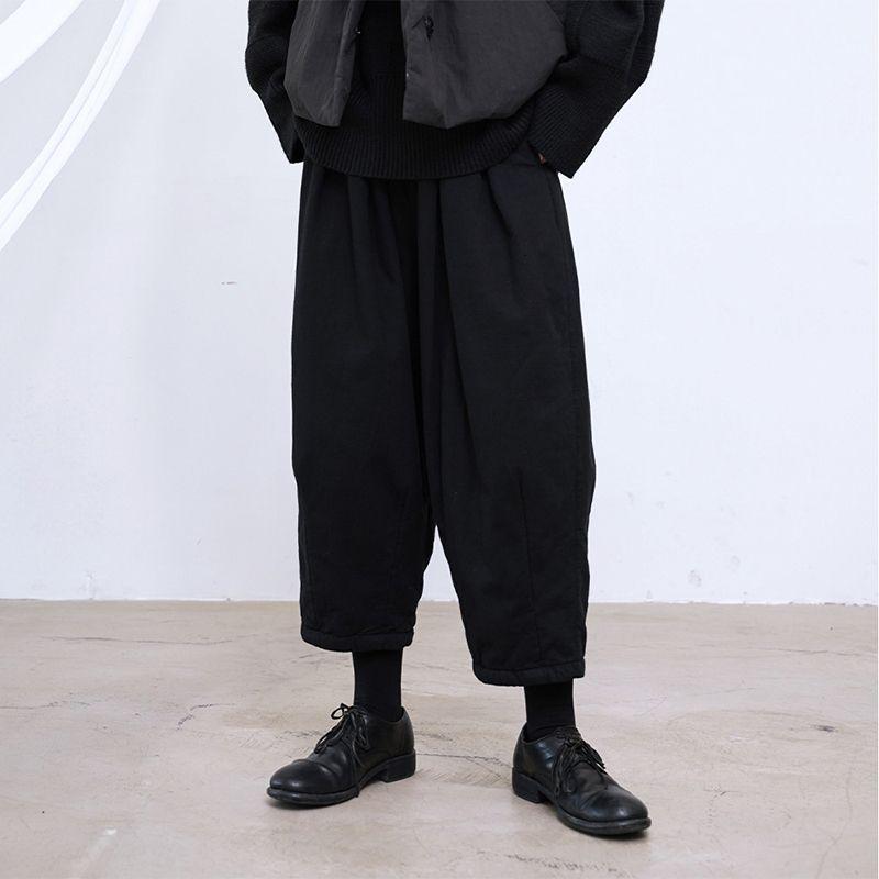 Haute taille élastique Noir Loisirs Pantalon large Nouveau Loose Fit Pantalons Femmes Mode Spring Tide Automne 2019 B007