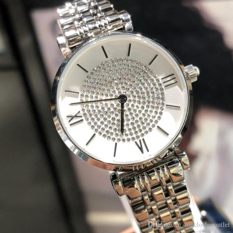 2019 новые женские роскошные часы высокого качества мода desinger часы из нержавеющей стали кварцевые алмазные наручные часы дамы лучший подарок