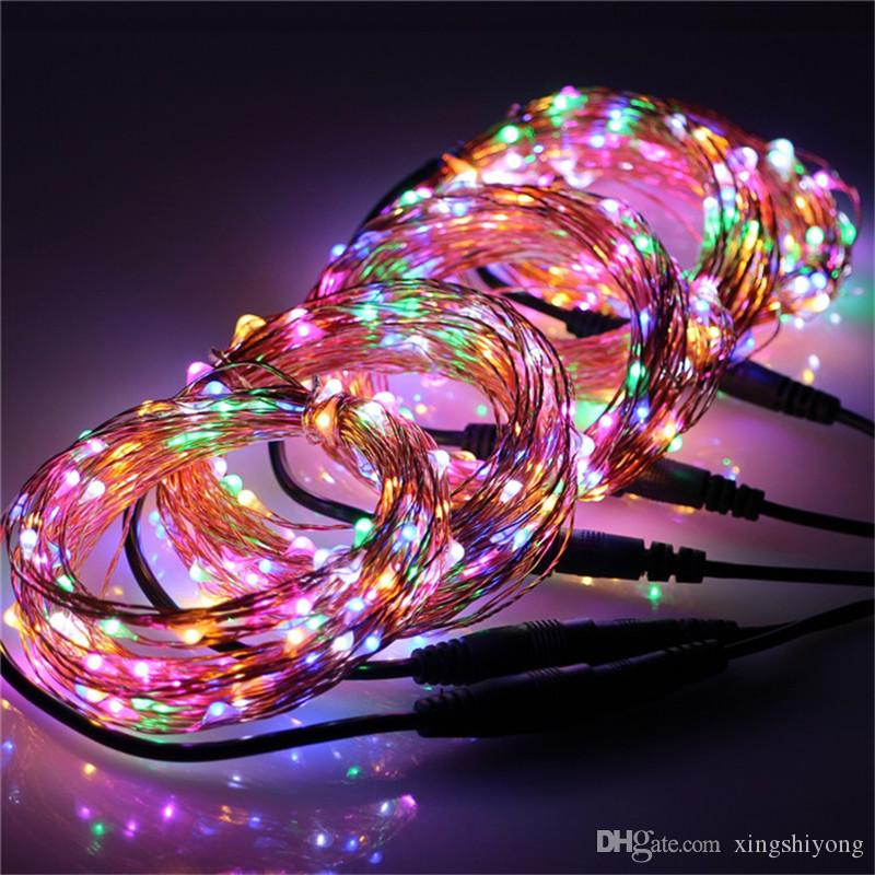 12V 10M 100Leds LED Copper Wire String Fairy Lights Party Xmas Home Decor Indoor