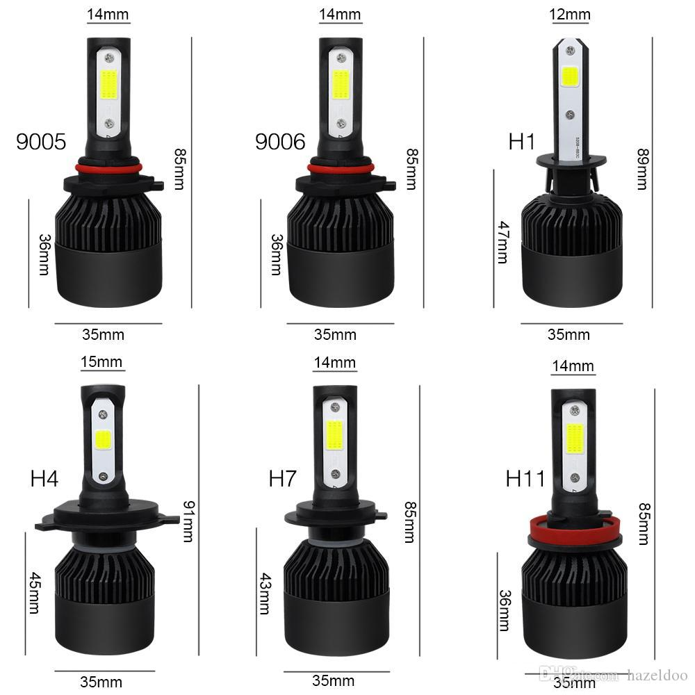 2019 Led Headlight Bulb H7 H1 H11 H 4 9005 9006 Conversion Kits 60w Dual Colors 6000k 8000 Lm Super Bright Waterproof Cob Chips From Hazeldoo 9 73