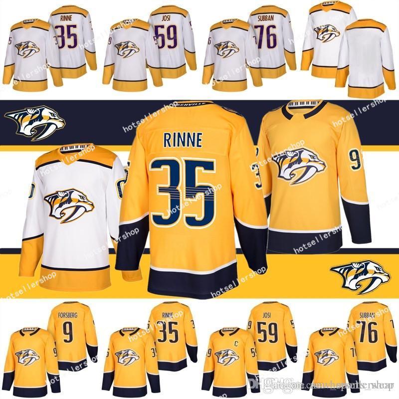 Nashville Raubtiere Jersey Hockey-Trikots 35 Pekka Rinne 9 Filip Forsberg 76 P.K. Subban 59 Roman Josi Football Trikots