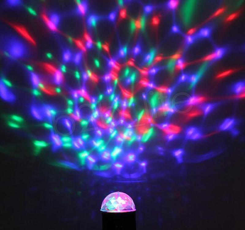 LED этап света лампы Мини кристалл магический шар Авто Вращающийся кристалл Лазерное освещение лампы Танцы Лампы Праздничное для вечеринок GGA1780