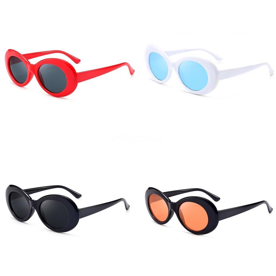 2020 New Buffalo Cuerno de gafas de sol retro de la manera del deporte de Hiphop Sunglasee para los hombres de moda sin rebordes del medio capítulo de la lente clara y viene con la caja # 47079