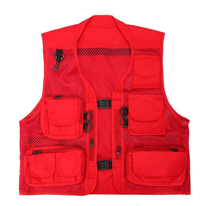 Camouflage extérieur multi-poches filet respirant Gilet de pêche Climb Chasse Randonnée CS Armée tactique Vêtements Photographie