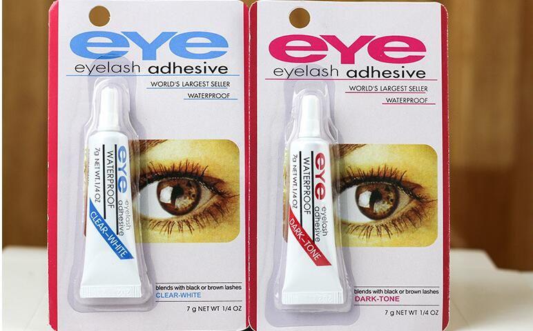 العين لاش الغراء أسود أبيض ماكياج لاصق مقاوم للماء الرموش الصناعية لاصقات الغراء الأبيض والأسود المتاحة