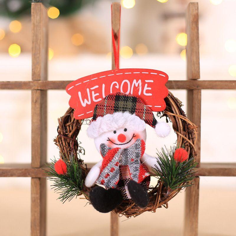 Nuevas decoraciones de Navidad Inicio Pequeño Garland puerta de la Navidad Anillo Ventana de Navidad decoración del árbol de Navidad Adornos de Año Nuevo para Noel