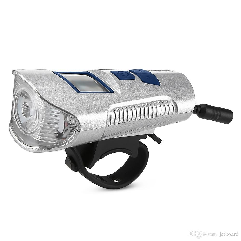 دراجات الجبهة الخفيفة الصمام USB الشعلة الدراجة القابلة لإعادة الشحن مع الكمبيوتر القرن الكهربائية