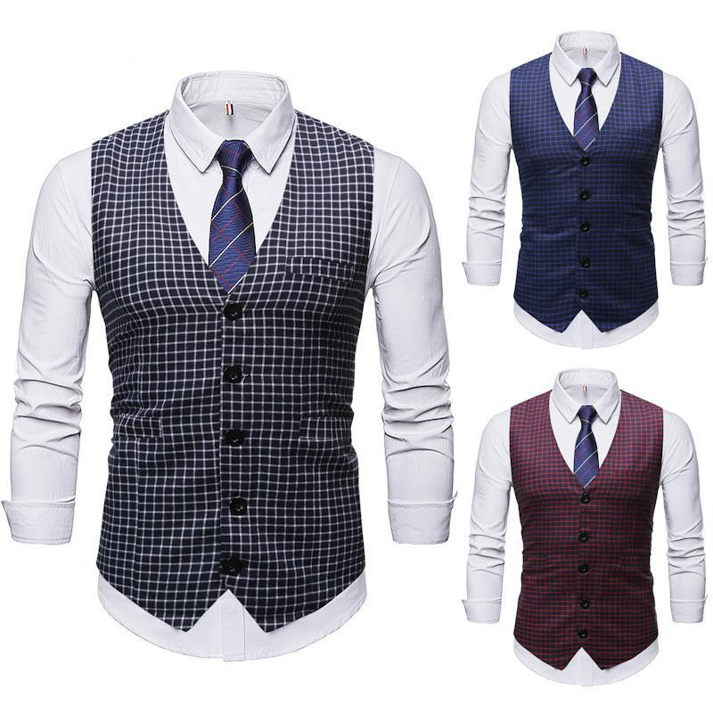 Yeni Erkek Tasarımcı Gömlek Wedding Casual Yelek Yeni Kış Ride Yelek Avrupa ve Amerika toptan dahilinde Moda Patlama Modelleri 2020 Güz
