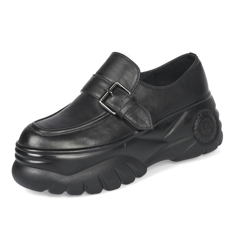 Arden Furtado весной и осенью мода Женская обувь красный Пряжка Круглый Toe из натуральной кожи Classics досуг обувь мокасины новый
