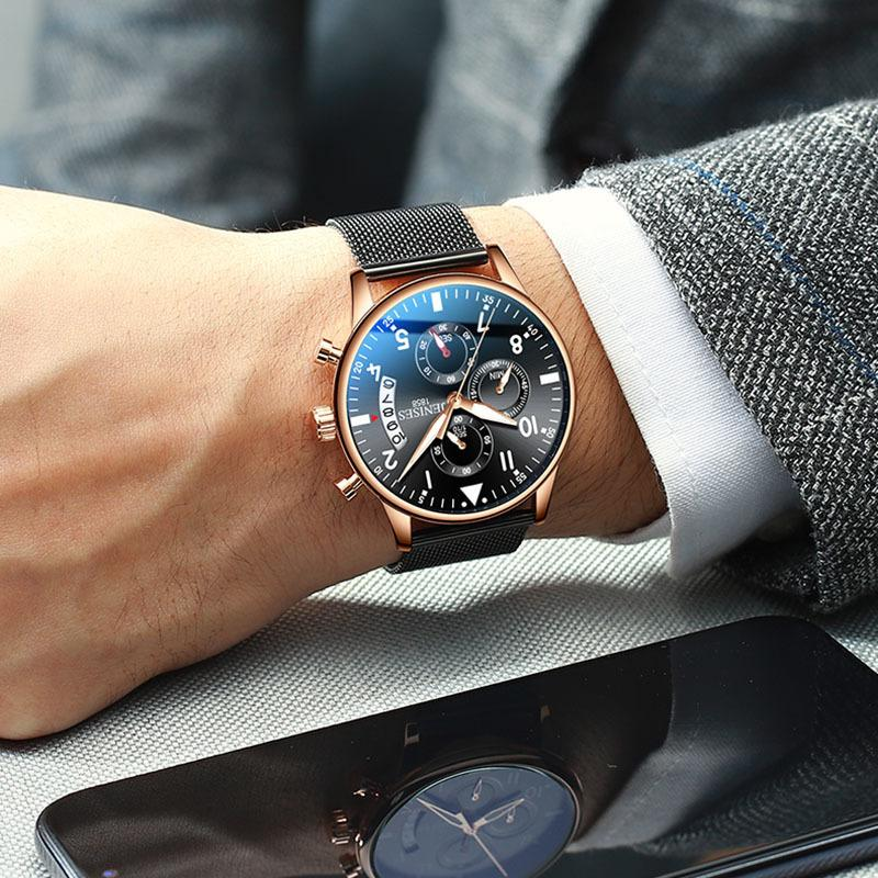 2019 Top Brand Fashion Men's Wrist Watch Sport Watches Man Business Chronograph Wrist Watch For Men Male Clock Relogio Masculino Y19052103
