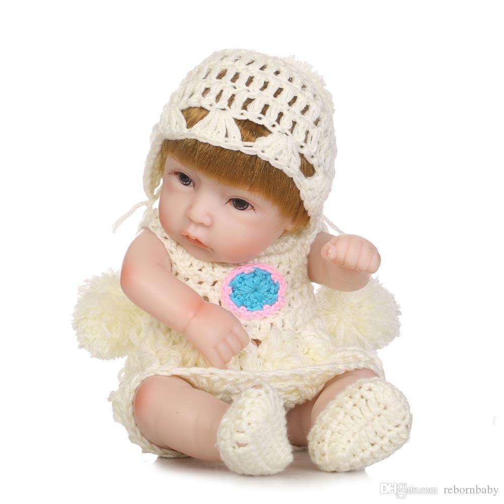NPK Mini pleine bébé silicone Réincarné bébé Poupées Soft Body Poupée réaliste jouets pour le bain Playmate du nouveau-né Juguetes