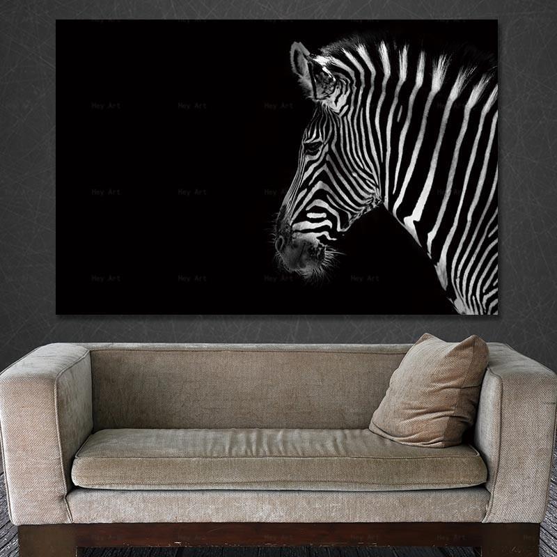 Wall Art Poster Home Decor Picture Stampa tela pittura animale Stampa senza cornice Dipinti zebrati