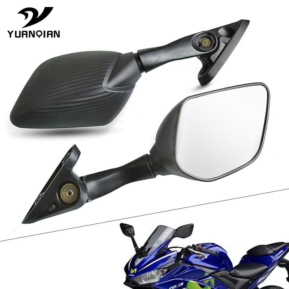 Para YZF R25 R15 R3 YZFR3 YZF-R25 YZFR3 2014 2015 2016 2017 Vista posterior de la motocicleta Espejo retrovisor de la moto Espejos laterales