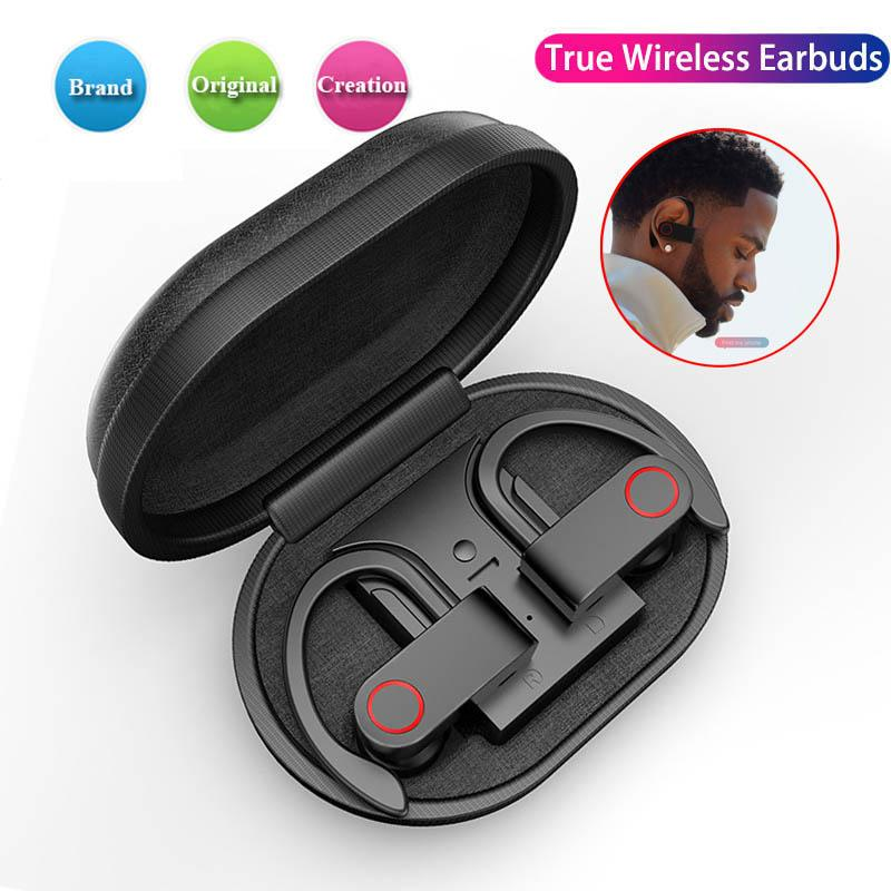 Ear Hook Sweatproof Wireless Bluetooth 5.0 Sports Earphones Stereo Bass Headphones Gym Headset TWS Bluetooth Wireless Earphone