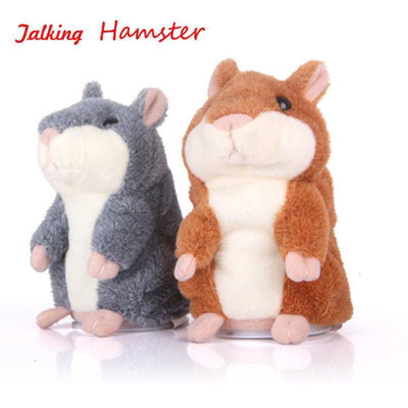 Мышь Talking Hamster Электронные животных Pet Плюшевые игрушки мимики Repeat Что вы говорите после слов Sounds Дети подарок на день рождения куклы T191019