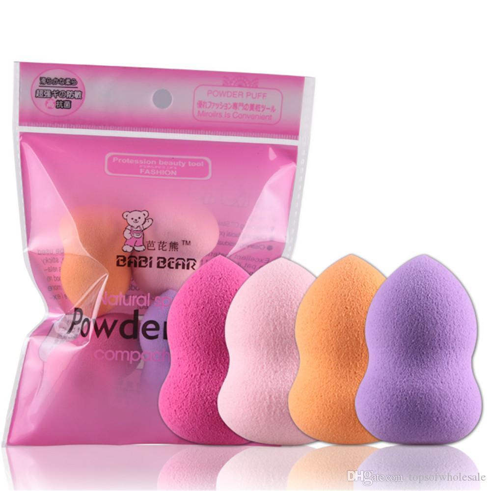 4 Stück / Packung Mini Beauty weiche Verfassungs-Schwamm-Hauch-Gesichts-Nasen-Gesicht Foundation Basisflüssigkeit Powder Blending kosmetisches Werkzeug