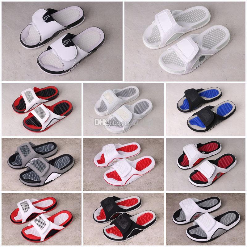 13 13s Hydrow Slids Nooks HYDROW 4S Slids Black Sandals Jumpman 11s Blue Black White Basketball Shoes