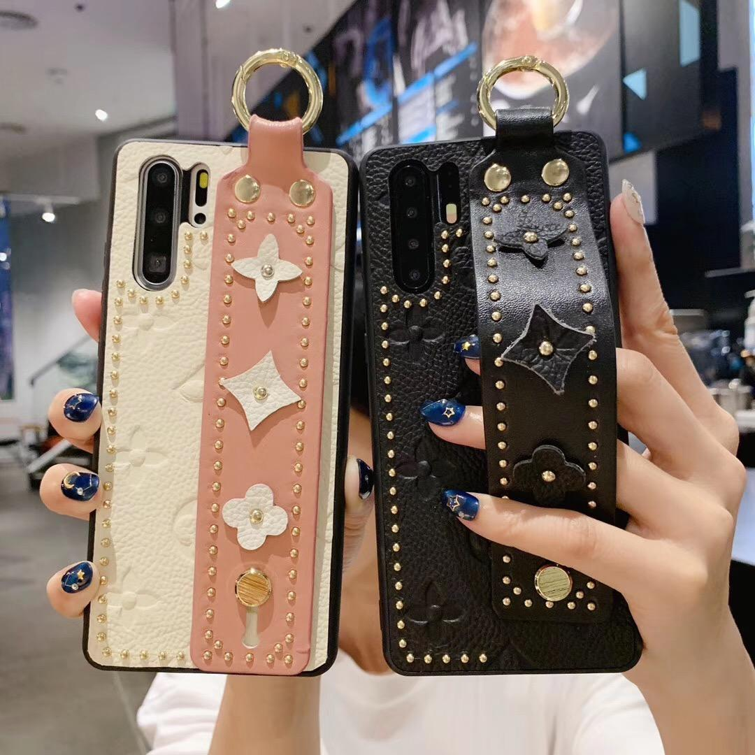 Telefone de luxo Caso Moda WithWrist suporte do telefone banda para iPhone XS MAX XR 8 7 6plus S10 HuaWei P30 mate20 Protector Designer tampa do telefone