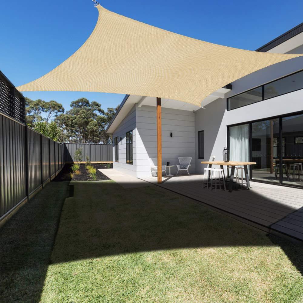 3х4м Прямоугольник ВС Тень Парус UV Block Открытый Shelter водонепроницаемый Canopy тент для патио сад бассейн Backyard лужайки кемпинга