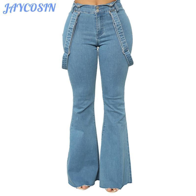 JAYCOSIN Vêtements Femme Jeans sexy taille haute élastique Denim Pantalon Tassel Skinny Slim Taille Plus 3XL Flare Jeans pour les filles