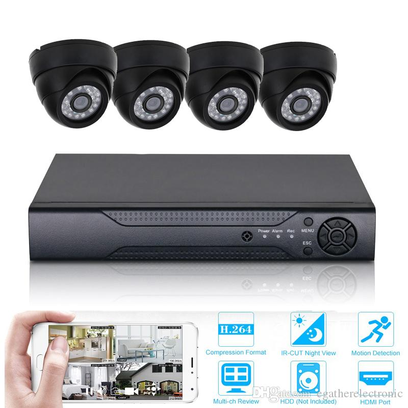 4CH 1080P DVR Kit HD CCTV Camera System Video Recorder Set P2P mobile phone viewing indoor Security