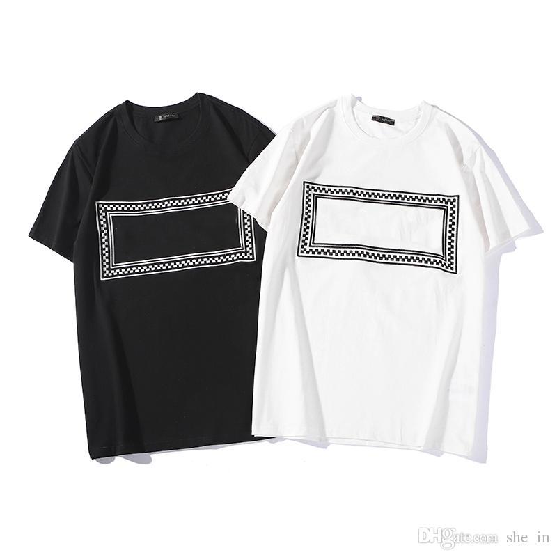 высокое качество Мужские рубашки дизайнера для летних Роскошное Mens Топы Топы с коротким рукавом мужчин и женщин Tshirts вскользь Марка Мужская одежда Размер S-2XL