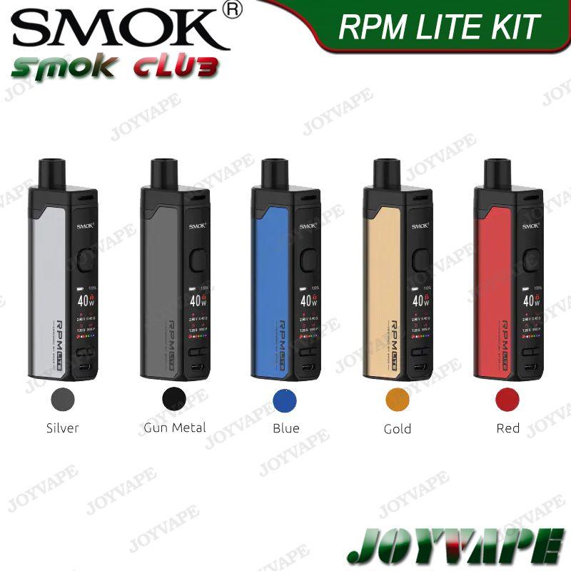 SMOK Vape Pen 22 Kit Light Edition 4ml 1650mAh بطارية مدمجة AIO مع شبكة LED خزان قاعدة / قطاع الأساسية 100 ٪ الأصلي 9293