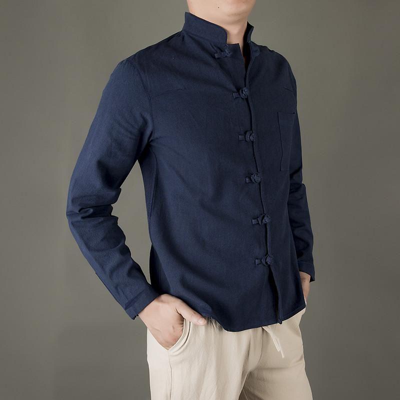 M-5XL Plus Size T-shirt pour hommes Camisa été à manches longues Homme Haut New Style chinois confortable et coton Chemise en lin hommes circuitent